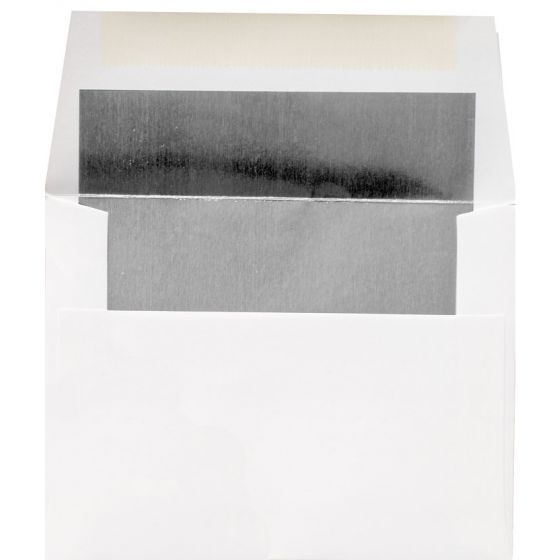 [Clearance] A2 FOIL LINED Envelopes - Ultrawhite 80T Envelopes with Silver Foil Lining - 50 PK