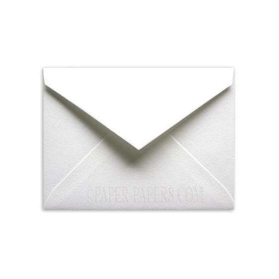 100% Cotton 5-1/2-Bar Envelopes (4.375-x-5.75) - Savoy Brilliant White - 25 PK