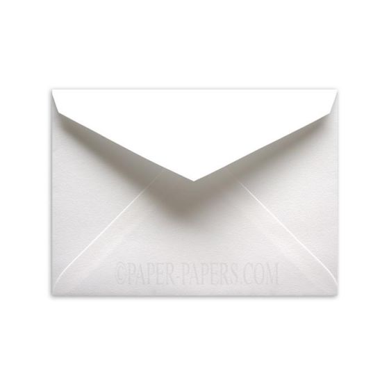 100% Cotton 7-BAR/Lee INNER Envelopes (5.25-x-7.25) - Savoy Brilliant White - Ungummed - 25 PK