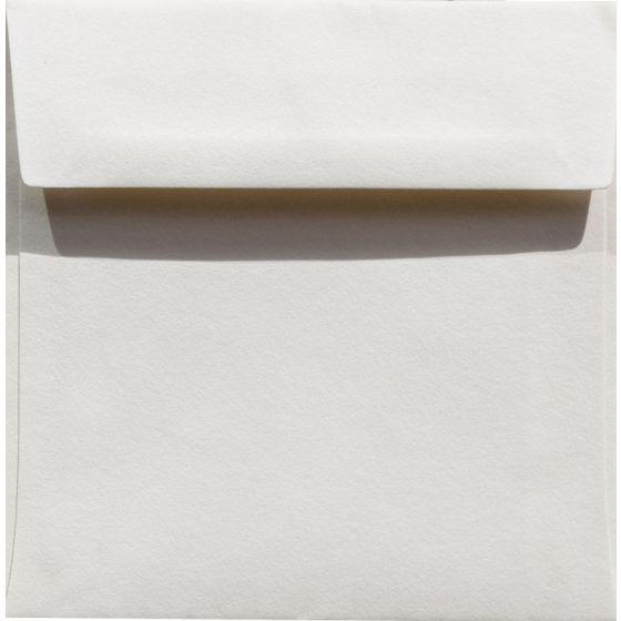 100% Cotton 6.5 Square Envelopes (6-1/2-x-6-1/2) - Savoy Natural White - 25 PK