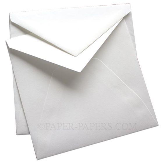 100% Cotton Royal 7-1/4 Square Envelopes (7.25-x-7.25) - Savoy Brilliant White (ungummed) - 25 PK