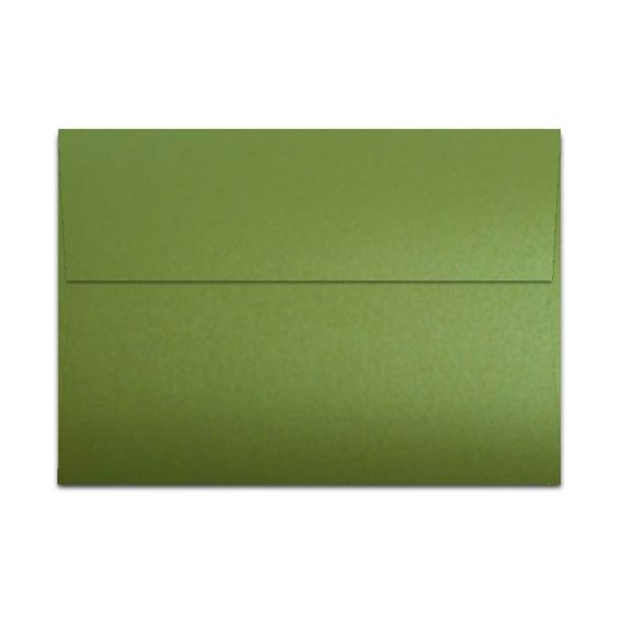 [Clearance] Shine LIME SATIN - Shimmer Metallic - A7 Envelopes (5.25-x-7.25) - 250 PK