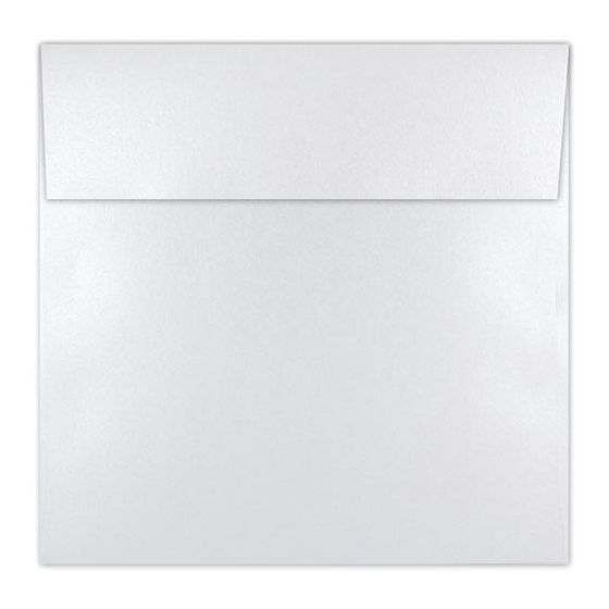 Shine PEARL White - Shimmer Metallic - 6-1/2 Square Envelopes (6.5-x-6.5) - 25 PK
