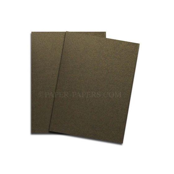 Shine BRONZE - Shimmer Metallic Card Stock Paper - 11 x 17 Ledger Size - 107lb Cover (290gsm) - 100 PK