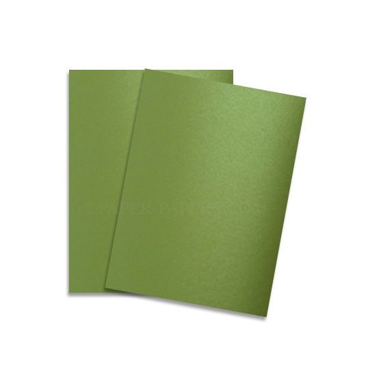 [Clearance] Shine LIME SATIN - Shimmer Metallic Card Stock Paper - 8.5 x 11 - 92lb Cover (249gsm) - 100 PK