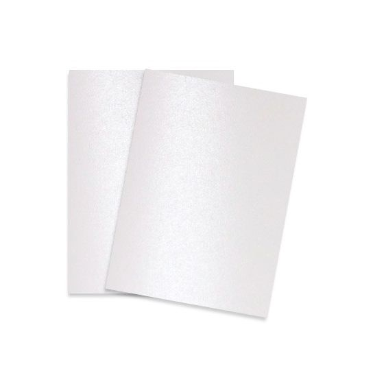 Shine PEARL White - Shimmer Metallic Card Stock Paper - 8.5 x 11 - 107lb Cover (290gsm) - 25 PK