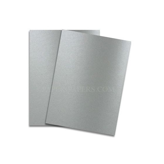 Shine PEWTER - Shimmer Metallic Card Stock Paper - 8.5 x 11 - 107lb Cover (290gsm) - 500 PK