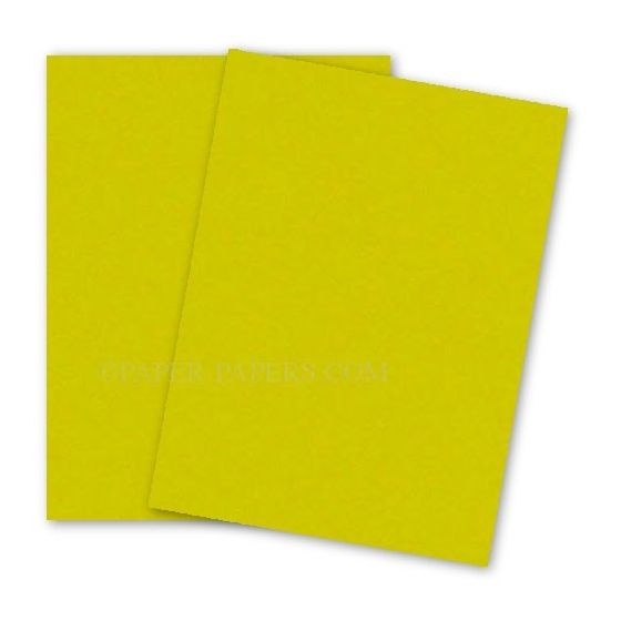 Astrobrights 8.5X11 Card Stock Paper - SUNBURST YELLOW - 65lb Cover - 250 PK