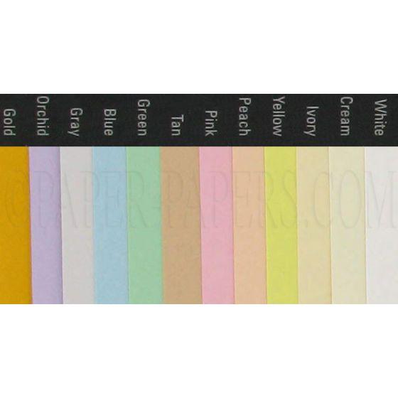 Exact Vellum Bristol YELLOW - 8.5 x 14 Cardstock Paper - 67VB - 250 PK