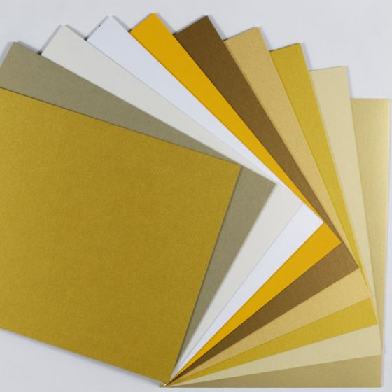 Favorite GOLD Multi-Pack - (Cardstock) Mix Finish (10 colors / 5 each) - 50 PK