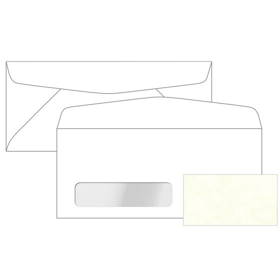 Astroparche - White No. 10 Commercial Canadian Window Envelopes (4.125-x-9.5-inches) - 2500 PK