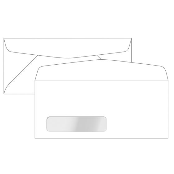 No. 14 Window Envelopes (5-x-11-1/2) - 24lb White Wove (Diagonal Seam) - 2500 PK
