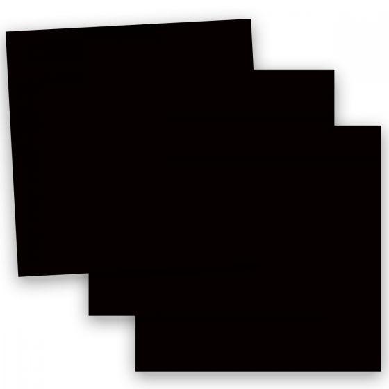Plike (Plastic-Like) Paper - 12 x 12 - BLACK - 122LB COVER - 100 PK
