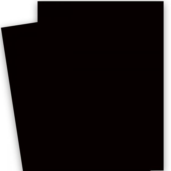 Plike (Plastic-Like) Paper - (28.3 in x 40.2 in) - BLACK - 122LB COVER - 50 PK
