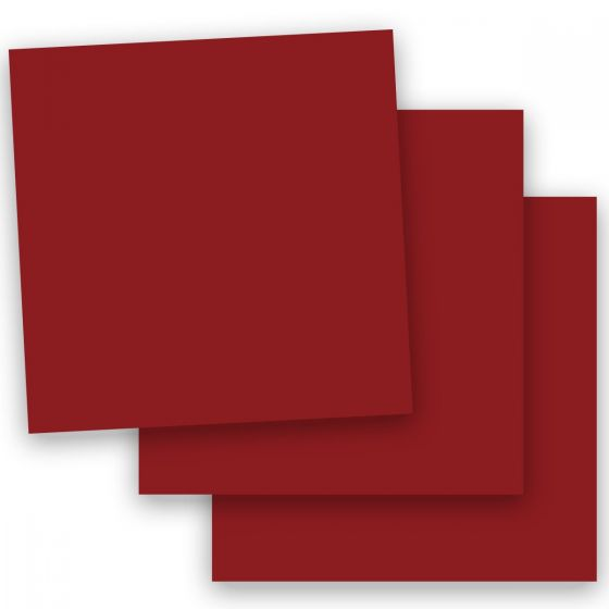Plike (Plastic-Like) Paper - 12 x 12 - BORDEAUX - 122LB COVER - 100 PK