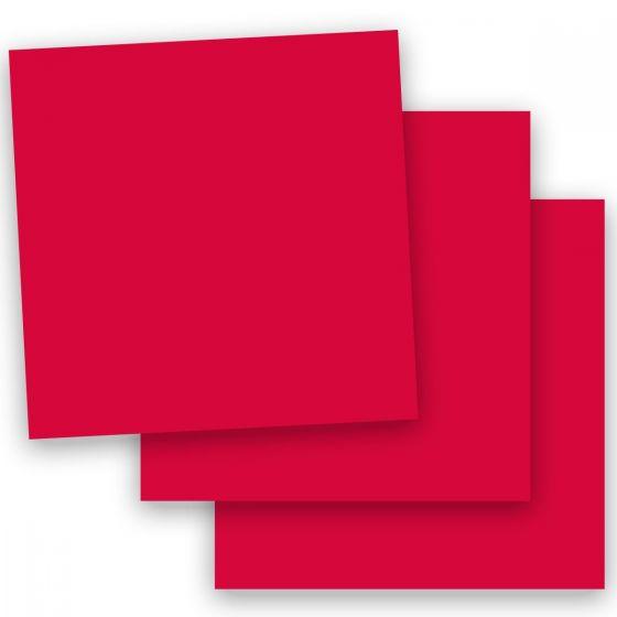 Plike (Plastic-Like) Paper - 12 x 12 - RED - 122LB COVER - 100 PK