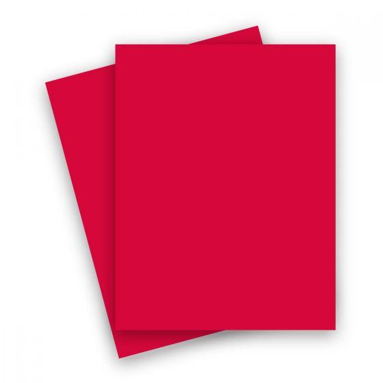 Plike (Plastic-Like) Paper - 8.5 x 11 - RED - 95LB TEXT - 25 PK