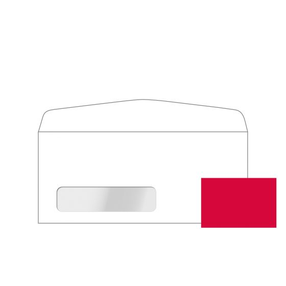 Plike RED #10 Commercial Canadian Window Envelopes (4.125-x-9.5-inches) - 2000 PK