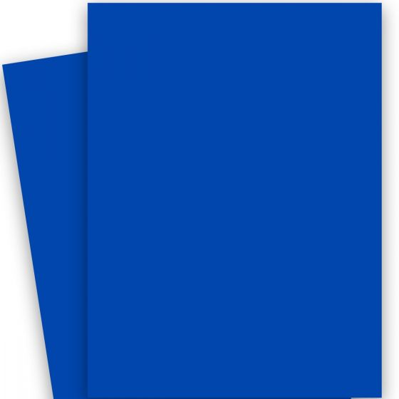 Plike (Plastic-Like) Paper - (28.3 in x 40.2 in) - ROYAL BLUE - 122LB COVER