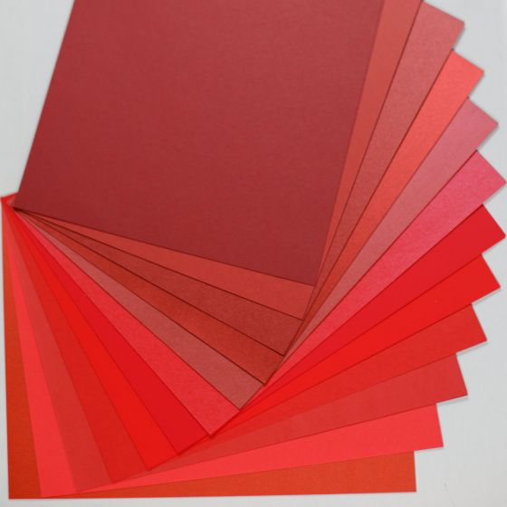 Crafters Pure Hues - Shades of RED - (Text) MIX Finish (12 colors / 3 each) - 36 PK