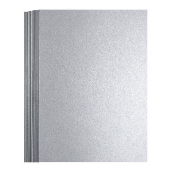 FAV Shimmer Pure Silver (2) Flat Cards Offered by PaperPapers
