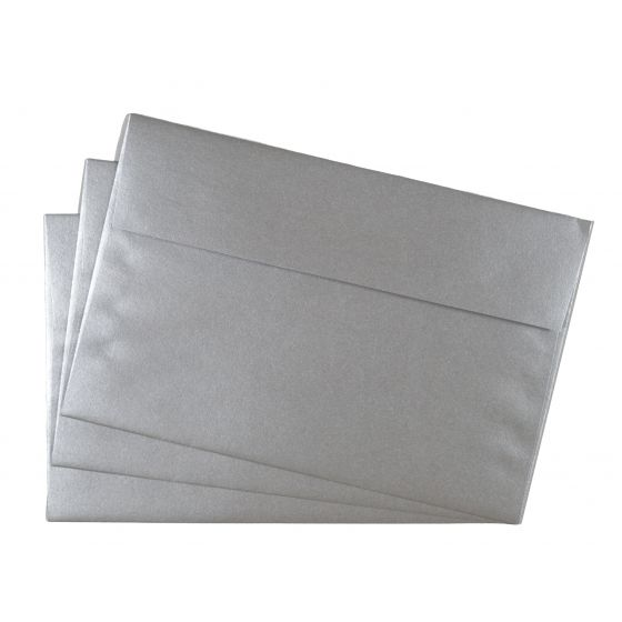 FAV Shimmer Pure Silver (6) Envelopes Offered by PaperPapers