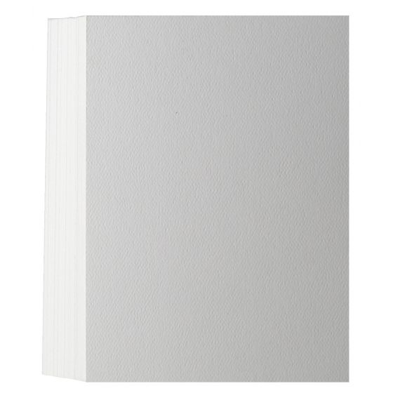 Textured Felt PURE WHITE 100C (5X7) A7 Flat Cards - 50 pack
