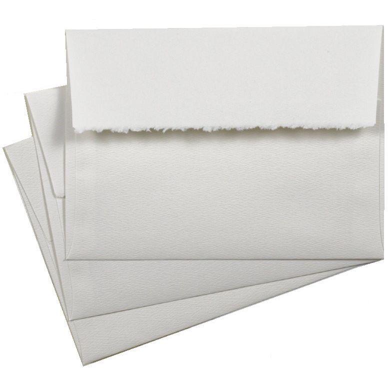 deckled edge a7 envelopes 5 25 x 7 25 bright white 80t premium