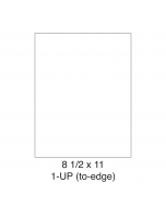 1 UP Full-Sheet Shipping Labels - 5165 Compatible - 1 Labels per Sheet / 25 Sheets