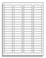 80 UP Return Address Labels - 5267 Compatible - 80 Labels per Sheet / 1000 Sheets