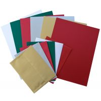 Crafters Holiday Variety Pack - 6 colors (includes Text, Cardstock and Envelopes) - 60 PK
