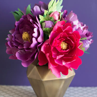 Peony Paper Bouquet