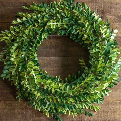 Boxwood Wreath from Paper