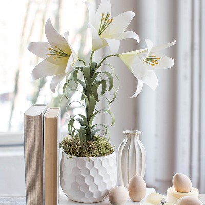 Easter Lily Paper Project by Lia