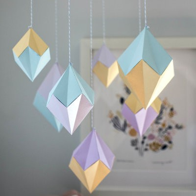 Paper Geodes Mobile Project by Lia